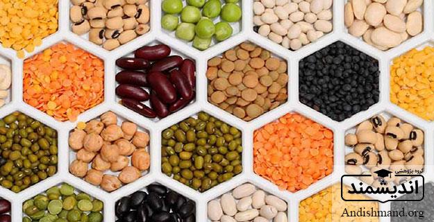 حبوبات لوبیا ، دانه هاي خشك خوراكي ، خانواده بقولات ، سرشار از پروتئين ، درجه حرارت