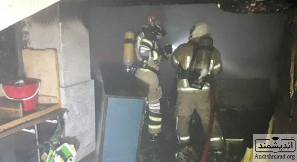 آتش سوزی - سه خودروی پراید و BMW در آتش سوختند