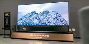 رونمایی از بزرگترین تلویزیون OLED جهان توسط الجی