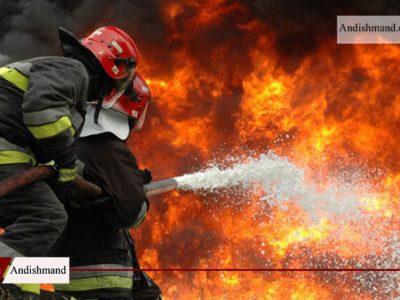 آتش سوزی در بازار گل امام رضا (ع)
