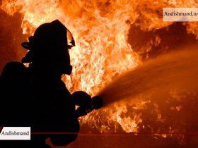 کارخانه لبنیات - آتش سوزی در شهر لبنیات میهن