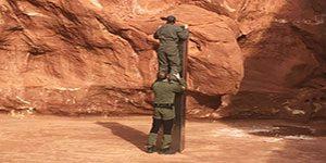 ماموران اداره حیات وحش ایالت یوتا جین گشت زنی های خود موفق به کشف یک سازه اسرارآمیز شده اند که این روزها بسیار مورد توجه قرار گرفته است.