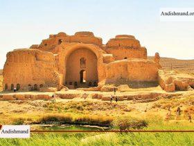 کاخ اردشیر بابکان - تخریب بخشی از حریم کاخ اردشیر بابکان در پی نفوذ سیل