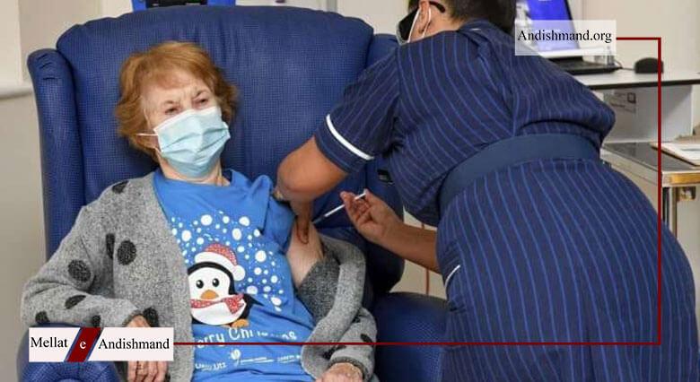 مارگارت کینان - اولین شهروند بریتانیایی واکسن کرونا دریافت کرد