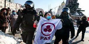 تظاهرات روسیه – اعتراض طرفداران آلکسی ناوالنی به بازداشت منتقد پوتین