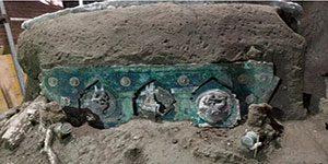 کشف ارابه باستانی در شهر سوخته پمپئی