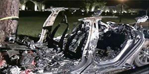 تصادف تسلا مدل S - مرگ دو نفر بر اثر تصادف تسلا مدل S بدون راننده
